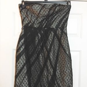 J S collection lace strapless dress size 8p